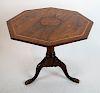 Regency-Style Octagonal Center Table
