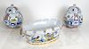 Tiffany & Co., New York: 3 Porcelain Decorations