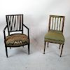 Two Painted Neoclassical-Style Chairs