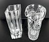 Tall Crystal Vase & A Pitcher