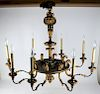Austrian 8-Light Gilt Wood Chandelier