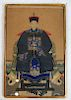 Portrait of Chinese Emperor - Framed Scroll - W/C