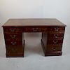 Three-Section Kneehole Desk