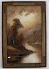 William Howard CHRISTY: Mountain Landscape -Pastel