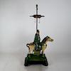 Chinese Horse and Rider Ceramic Lamp