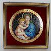 Murano Micro-Mosaic Glass Madonna and Child