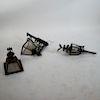 Antique Iron Lantern and Coach Light (2 Items)