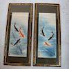 Two Japanese Prints: Koi