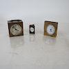 Three Travel/Desk Clocks