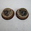 Pair Bronze Partial Shades