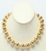 18K Yellow Gold Large Melon-Form Beads Necklace