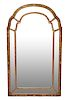 Victorian Style Hall Mirror with Shaped Panels