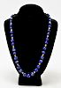 14K Yellow Gold & Sodalite Beads Necklace