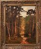 """Hartman Signed """"Forest Landscape"""" Oil on Canvas"""