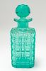 Art Deco Style Turquoise Color Crystal Decanter