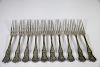A Set of 10 Tiffany Silver Olympia Pattern Forks