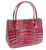 Alligator Red Tote Handbag