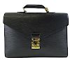 Louis Vuitton Epi Serviette Briefcase (Black)