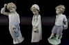 Collection of three lladro Porcelain Figures