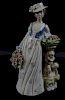 Nadal Lladro Porcelain Women in Dress w/ Flowers
