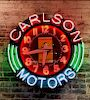 Large Vintage Neon Ferrari Sign Carlson Motors 1980's