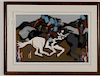 "Jacob Lawrence ""Toussaint at Ennery"" ,1989,Signed"