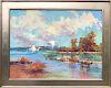 """David Lazarus Oil on Canvas """"Two Egrets"""""""