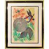 Joan Miro (Spanish, 1893-1983) Color Lithograph