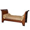 Antique Danish Inlaid Wood Day Bed