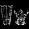 (2 Pc) Orrefors Crystal Vases