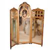 Victorian Gilded Wood Mirror Screen