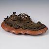 Nil Melior J.F.A. Paris Bronze Inkwell