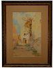 Prosper Louis Senat (1852 - 1925) Watercolor