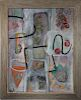 Kroll, Signed Mid Century Abstract Painting