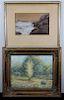 (2) 20th C. Landscape/Coastal Paintings