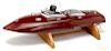 Reuhl gas powered hydroplane speedboat model