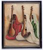 "B. Prabha (1933-2001) ""Musicians"" Painting"