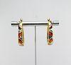 14K Gold Asch Grossbardt Hoop Earrings