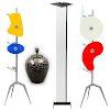 Lote de 4 lámparas. Siglo XX y XXI. Elaboradas en metal y cerámica. Consta de: 3 lámparas de piso y una de mesa. Una Creátion Mathias.