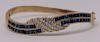 JEWELRY. 14kt Gold, Sapphire, and Diamond Bracelet