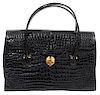 Morabito Black Crocodile Handbag 1960's