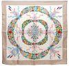Gucci Floral Wreath & Ribbon Silk Scarf
