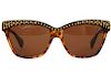 Alexander McQueen Gold Stud Sunglasses 4239