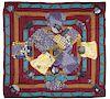 Hermes Kimono Et Inros Cashmere Silk Shawl 140cm