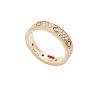 Cartier LOVE WEDDING BAND DIAMOND-PAVED PINK GOLD,