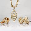 VAN CLEEF & ARPELS Lucille Ball's 18k Yellow Gold Jewelry Set