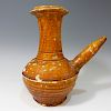 CHINESE ANTIQUE BROWN GLAZED KENDI - TANG DYNASTY