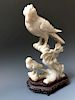 CHINESE CARVING STONE BIRD
