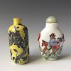TWO OF CHINESE ANTIQUE SNUFF BOTTLES