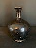 Korean Black Glazed Bottle Vase
